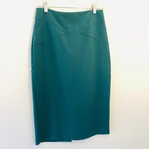New York & Co Pencil Skirt Green Size Small